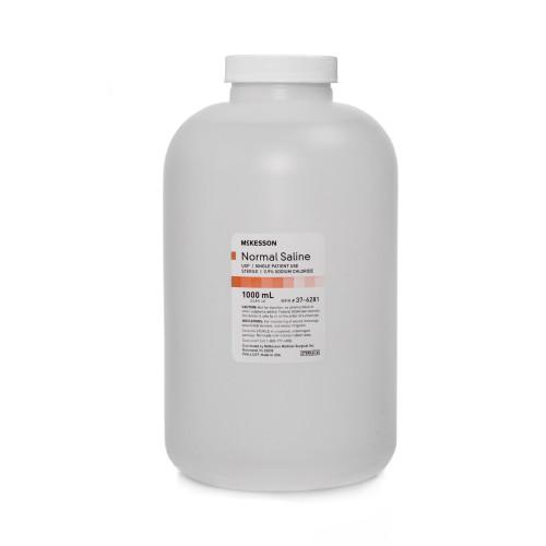 McKesson Normal Saline Irrigation Solution, 37-6281, 1000 mL - 1 Each
