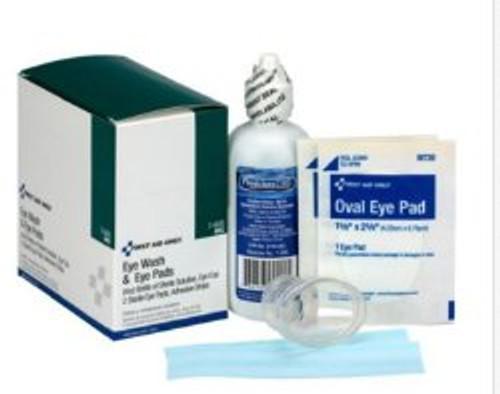 First Aid Only Eye Wash & Eye Pads Kit, 7-600, 1 Kit