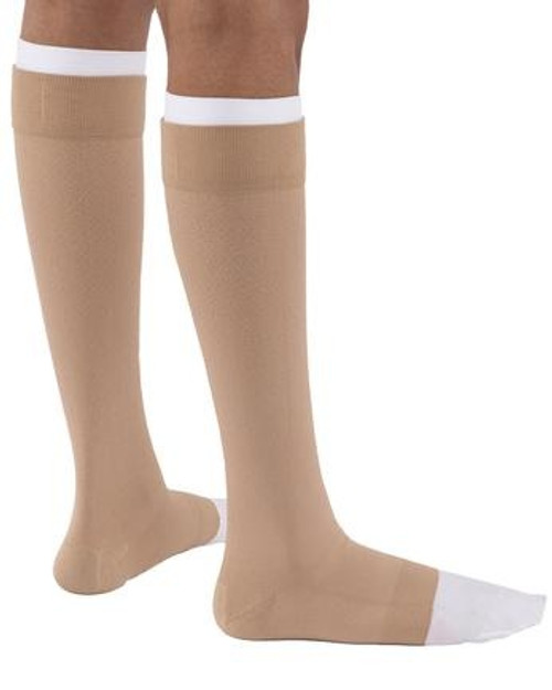 """JOBST UlcerCARE Knee High Compression Stocking with Liner, Closed Toe, 114482, Beige - X-Large (Ankle 10.75-12""""/Calf 18-21.25"""") - 1 Each"""