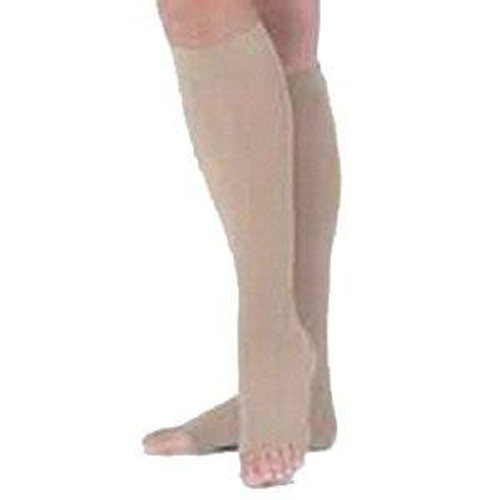 Carolon Knee High Compression Stocking, Open Toe, 8 261404 2, Size D - Pack of 2