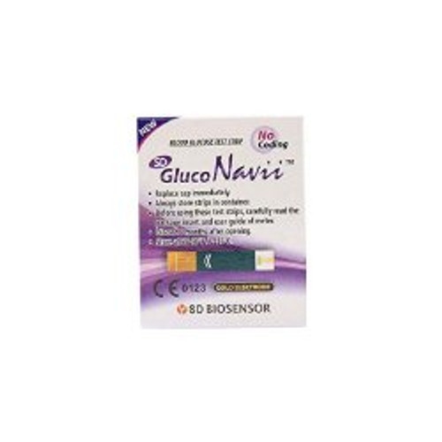 GlucoNavii Glucose Meter Test Strips, BGGNS50, Box of 50