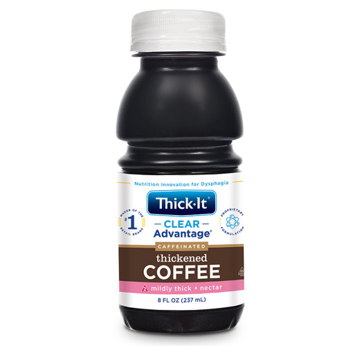Thick-It Clear Advantage Caffeinated Thickened Coffee, Mildly Thick, Nectar Consistency, B467-L9044, Case of 24