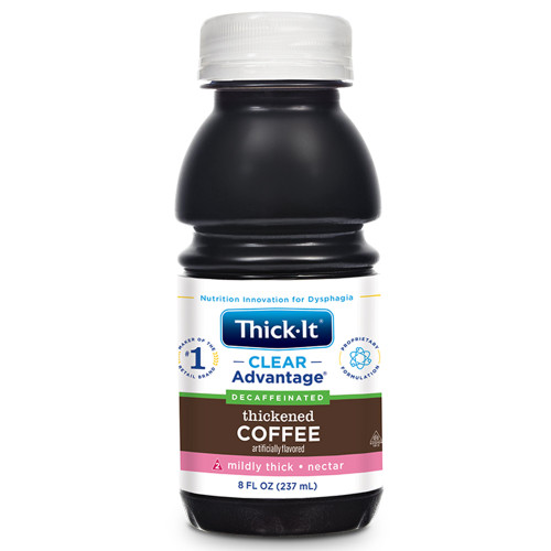 Thick-It Clear Advantage Decaffeinated Thickened Coffee, Mildly Thick, Nectar Consistency, B469-L9044, 8 oz. - Case of 24