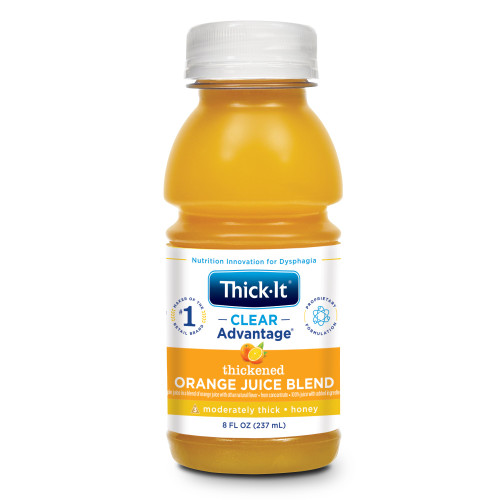Thick-It Clear Advantage Thickened Orange Juice Blend, Moderately Thick, Honey Consistency, B478-L9044, 8 oz. - Case of 24