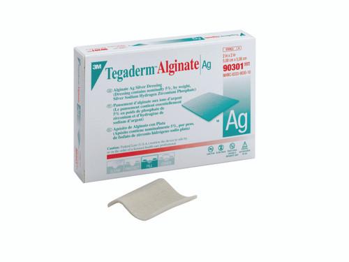 "3M Tegaderm Alginate Ag Silver Dressing, 2 X 2"", 90301, Box of 10"