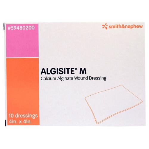 """AlgiSite M Calcium Alginate Wound Dressing, 4 X 4"""" , 59480200, Box of 10"""