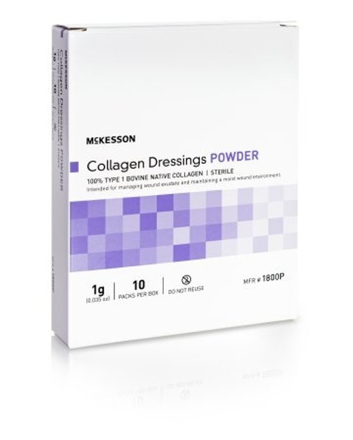 McKesson Collagen Dressings Powder, 1g, 1800P, Box of 10