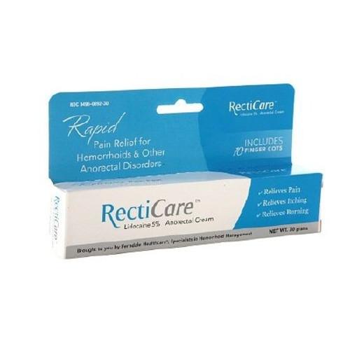 RectiCare Lidocaine Anorectal Cream, 5%, 00496089230, 1 Each