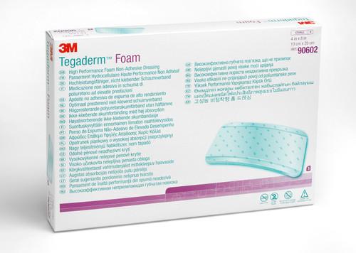"3M Tegaderm Foam High Performance Foam Non-Adhesive Dressing, 4 X 8"", 90602, Box of 5"