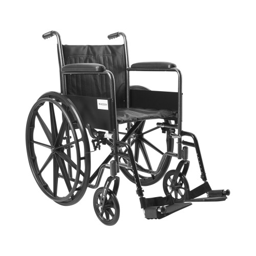 """McKesson Wheelchair with Padded Arms, Swing Away Footrest, 18"""" Seat, 146-SSP218FA-SF, 1 Each"""