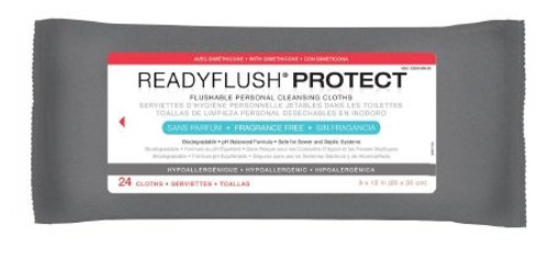 ReadyFlush Protect Flushable Personal Cleaning Cloths, MSC263811, Case of 576 (24 Packs)