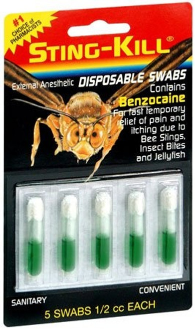 Sting-Kill External Anesthetic Disposable Swab with Benzocaine, 03010305000, Box of 5
