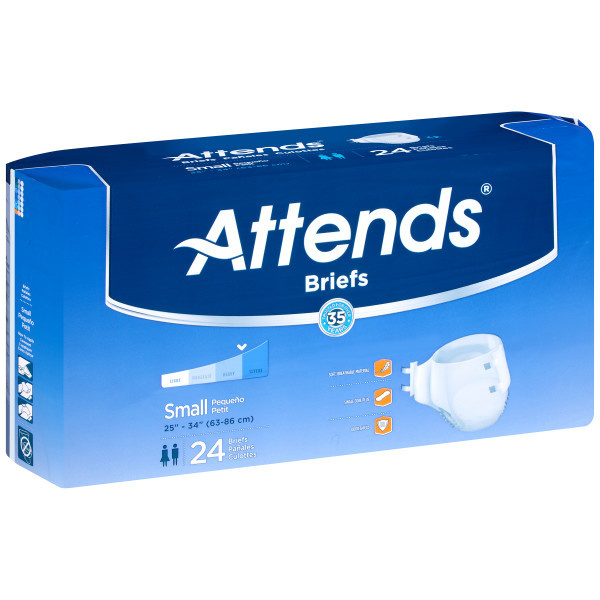 Attends Breathable Adult Diapers with Tabs, Severe