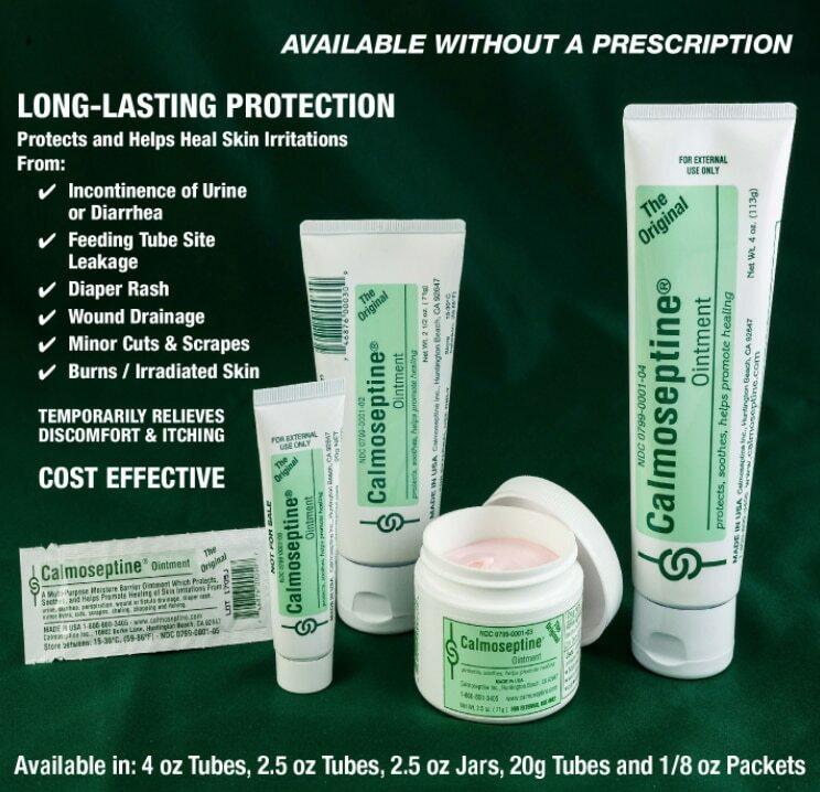 Calmoseptine Uses. Available without a prescription.