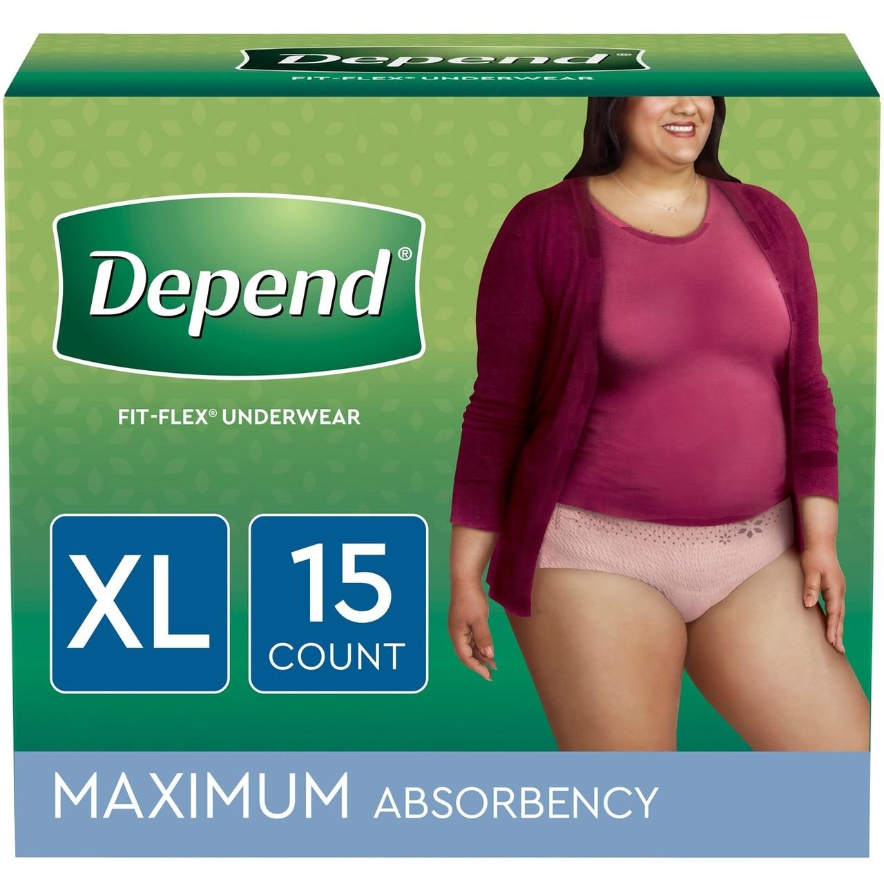 Depend fit flex underwear