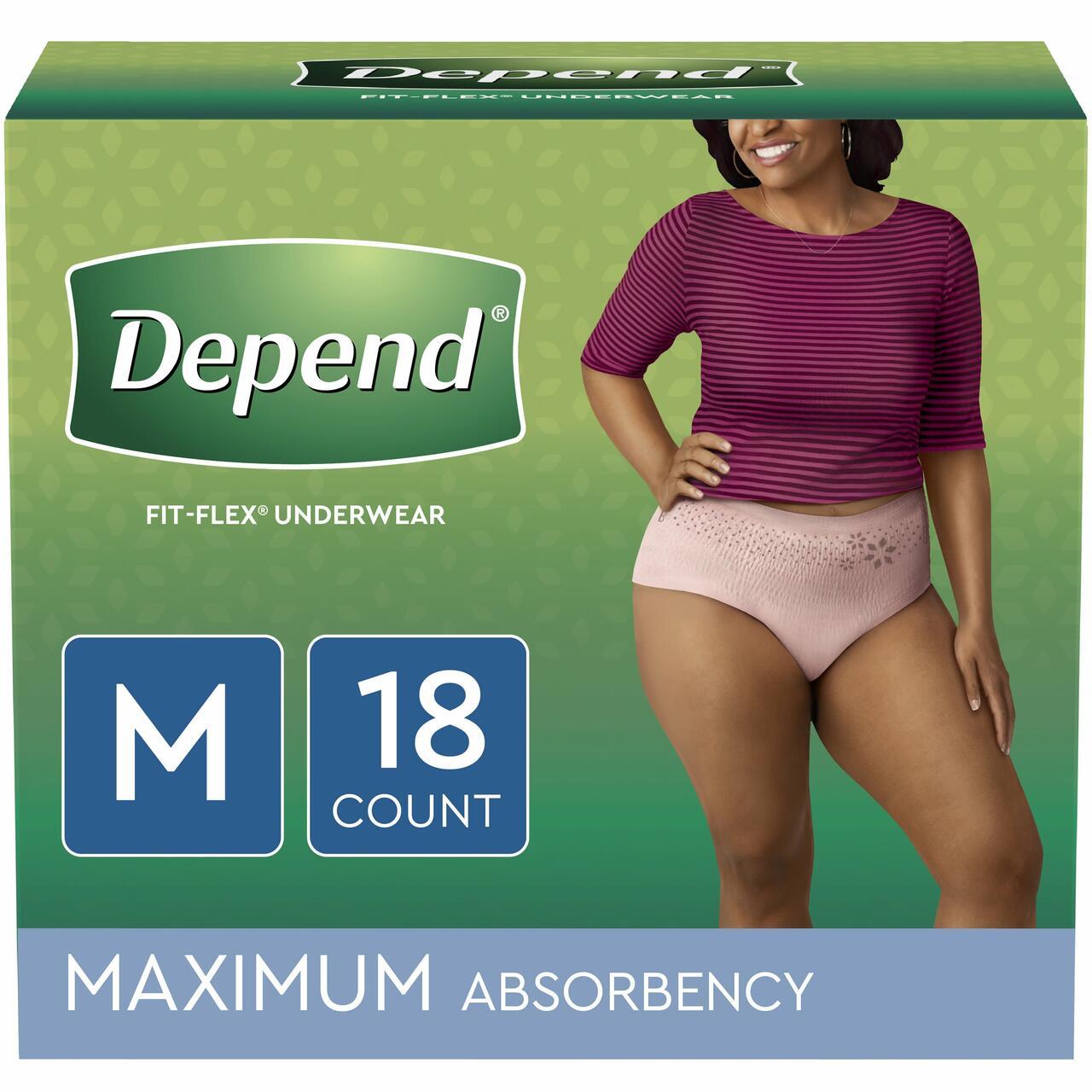Depend underwear for women