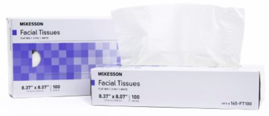 McKesson Facial Tissue, White