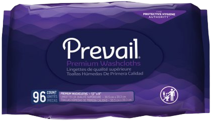 Prevail Personal Wipes with Aloe. Hypoallergenic.