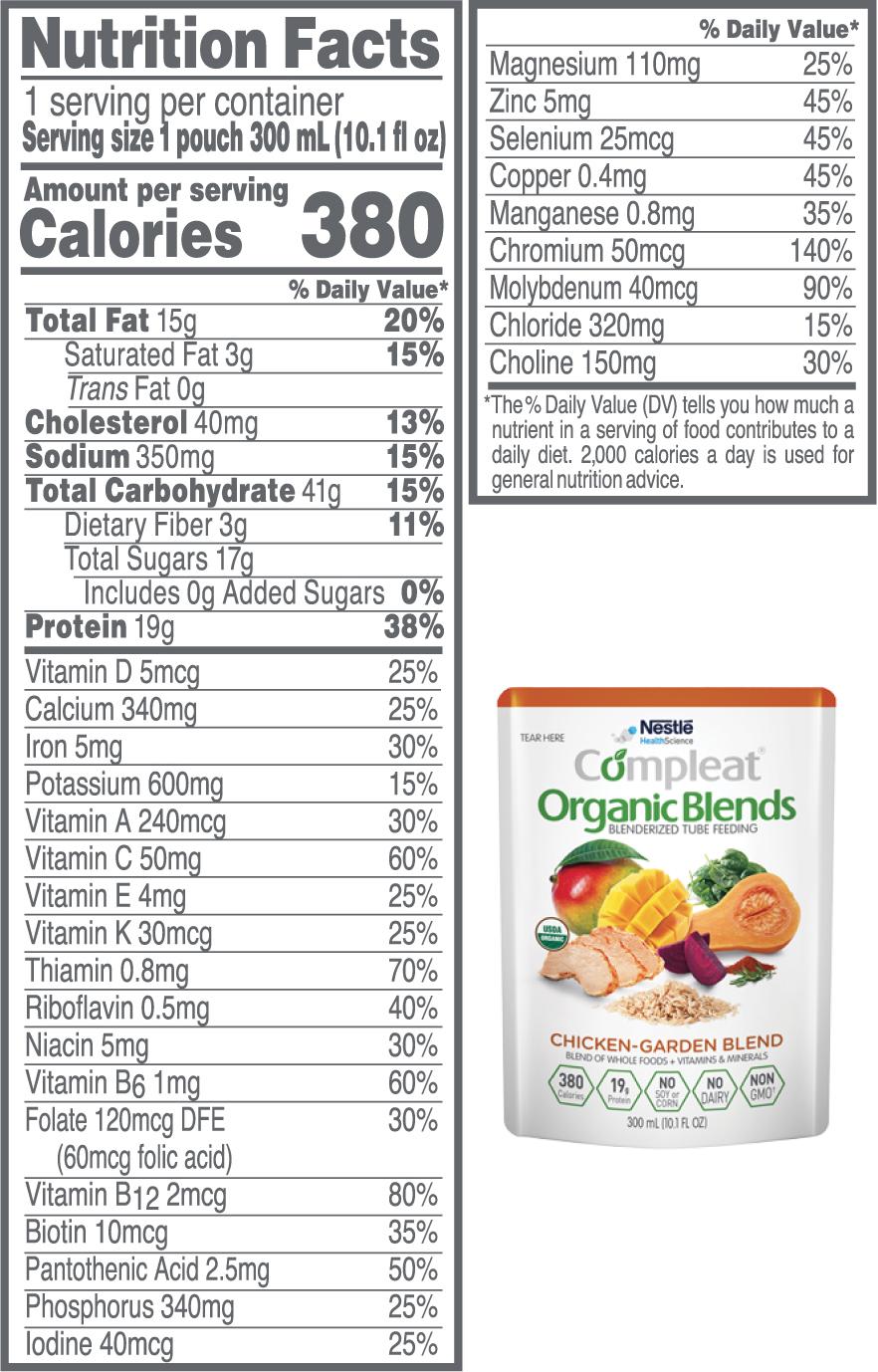Compleat Organic Blends Enteral Feeding Tube Formula