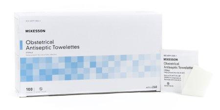 McKesson Obstetrical Antiseptic Towelettes, Benzalkonium Chloride