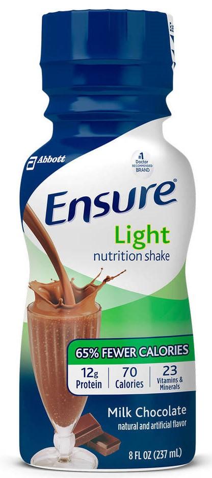 Ensure Light Nutrition Shake, 8 oz, Milk Chocolate