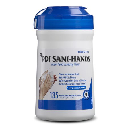 Canister of Sani-Hands Hand Sanitizing Alcohol Wipe