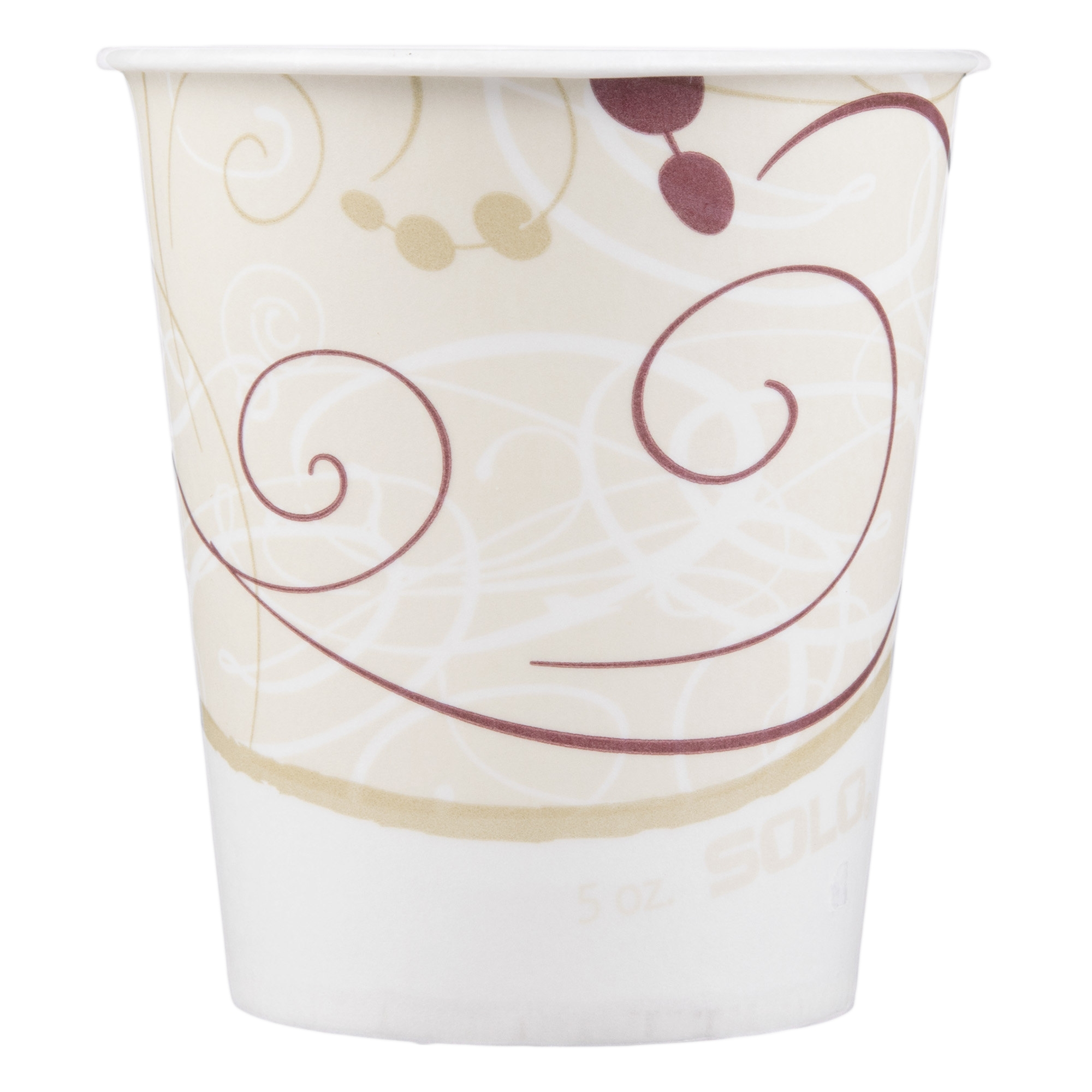 Solo Disposable Paper Drinking Cup, Symphony Print, R53-J8000, 5 oz - Sleeve of 100