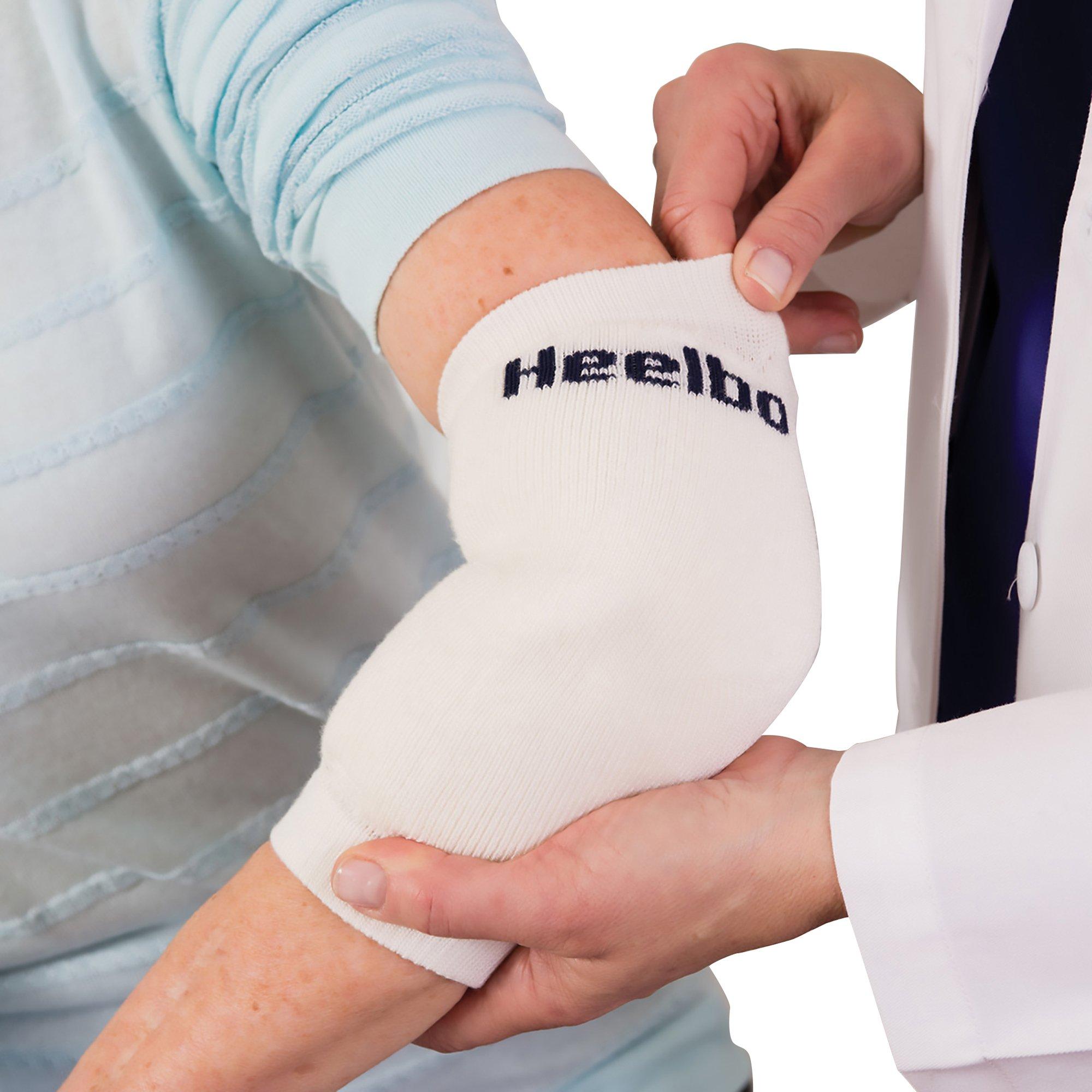 Heelbo Heel/Elbow Protection Sleeve , D 12039, White Large - 1 Each