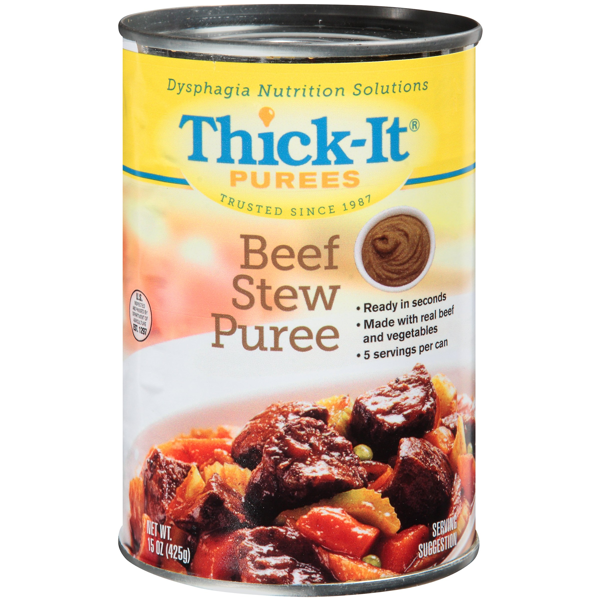 Thick-It Puree Ready to Use, Beef Stew Flavor, 15 oz., Can, H308-F8800, Case of 12 Cans