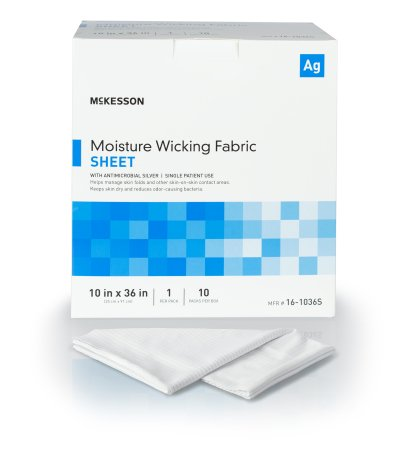 McKesson Silver Moisture Wicking Fabric, 10 X 36 Inch Rectangle, 16-1036S, 1 Sheet