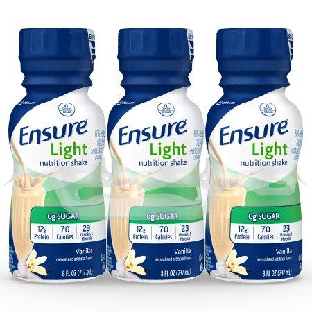 Ensure Oral Supplement, Light Vanilla, 64123, 6 Bottles