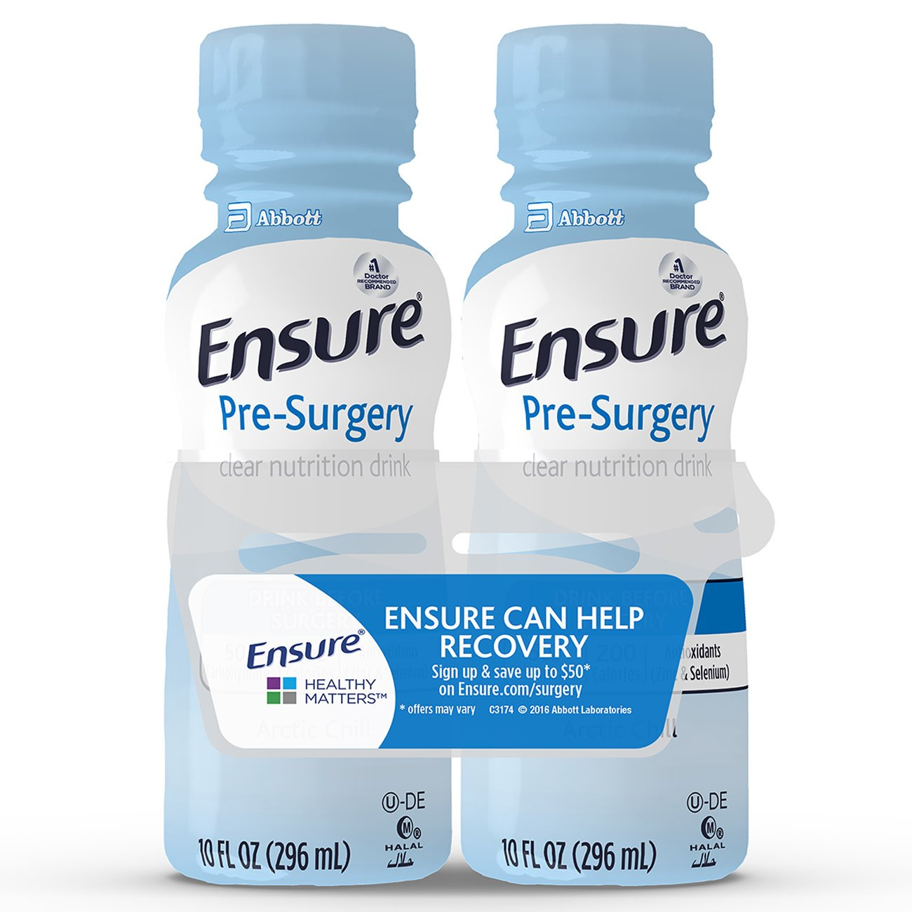 Ensure Ready to Use Pre-Surgery Oral Supplement Carbohydrate Drink, Clear, Strawberry Flavor, 10 oz., Bottle, 66437, 16 Bottles
