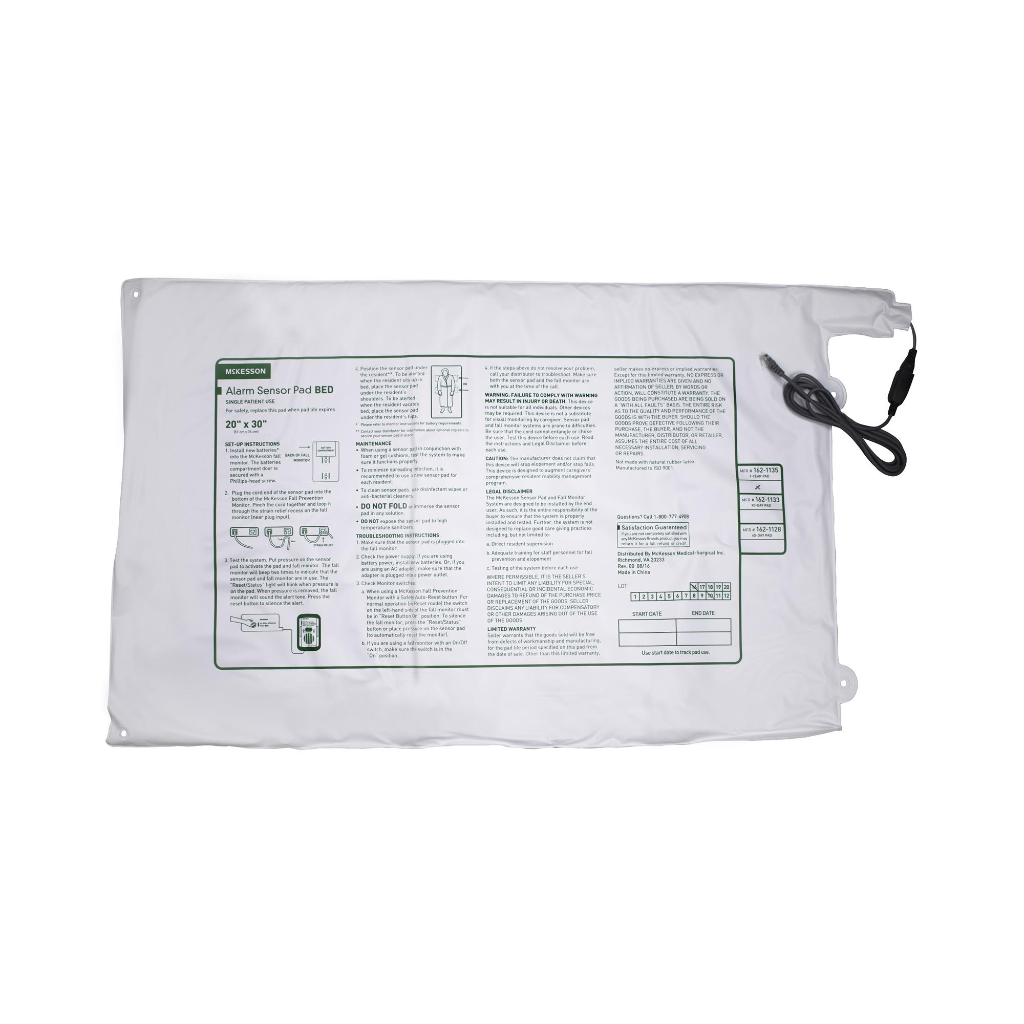 "McKesson Alarm Sensor Pad, 162-1135, 20 X 30"" - Pad"