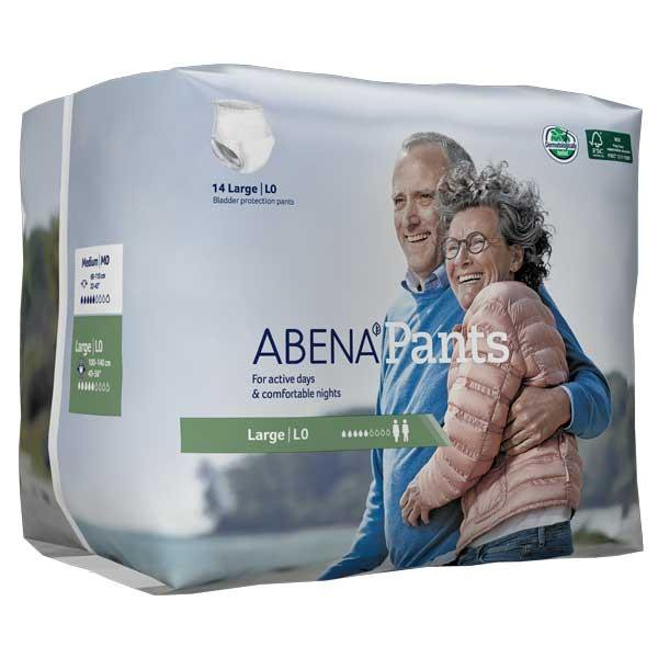 """Abena Unisex Disposable Pull On Adult Diaper with Tear Away Seams, Moderate Absorbency, 1000017174, Large (38-55"""") - Bag of 14"""