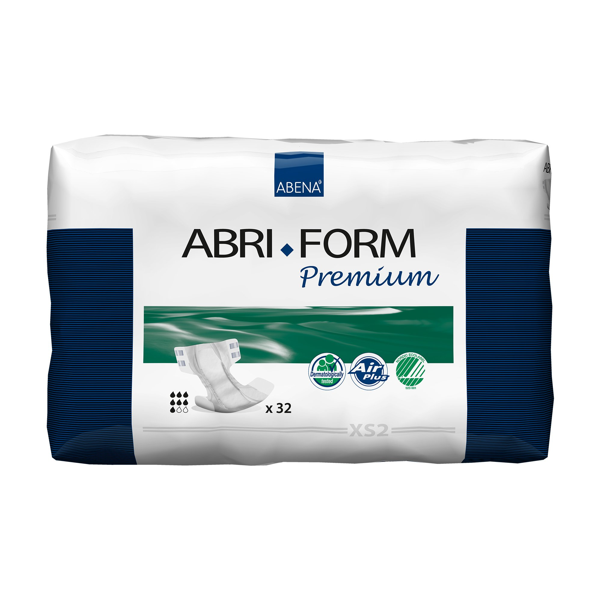 """Abri-Form Premium XS2 Unisex Adult Disposable Diaper with tabs, Heavy Absorbency, 43054, X-Small (20-24"""") - Bag of 32"""