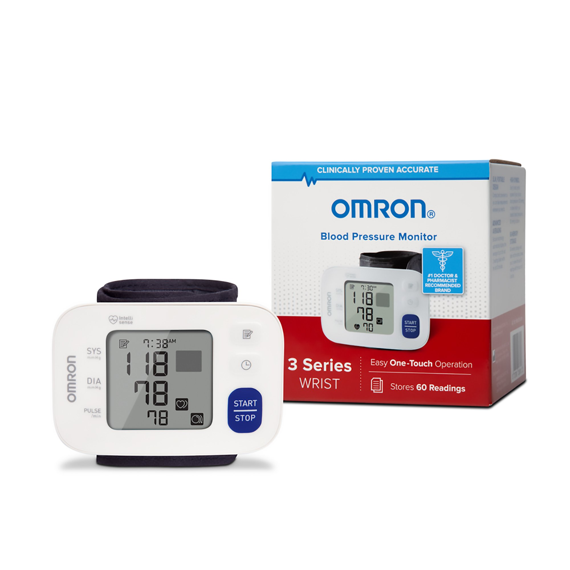 Omron Blood Pressure Monitor, 3 Series Wrist, Easy One-Touch Operation, BP6100, 1 Monitor