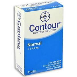 Bayer Contour Blood Glucose Control Solution, 2.5 mL, Normal Level, 7109B, Case of 12 Boxes
