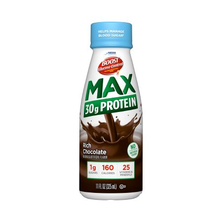 Boost Glucose Control Max Balanced Nutritional Drink, 11 oz, Bottle, Rich Chocolate, 00041679794500, Case of 24
