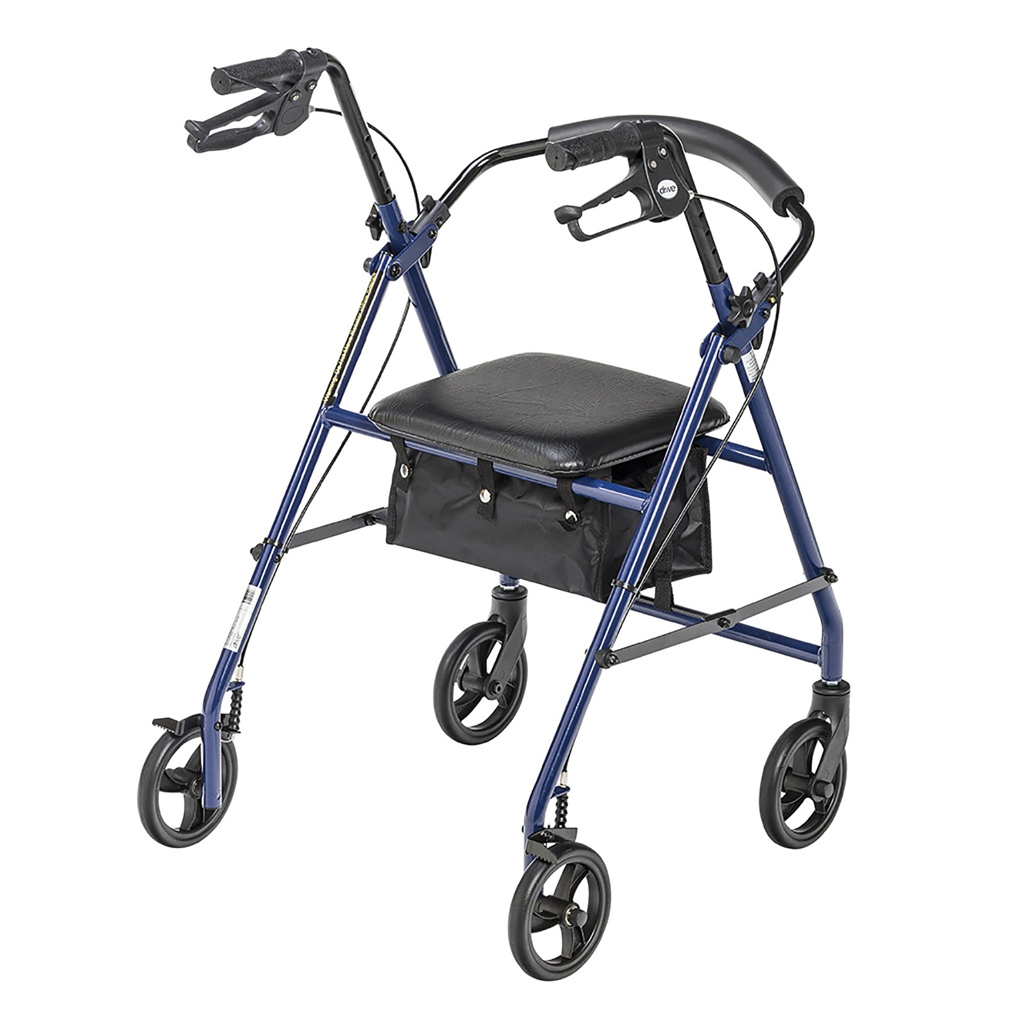 """drive Adjustable Height Rollator, 6"""" Casters, R800BL, Blue - 1 Each"""