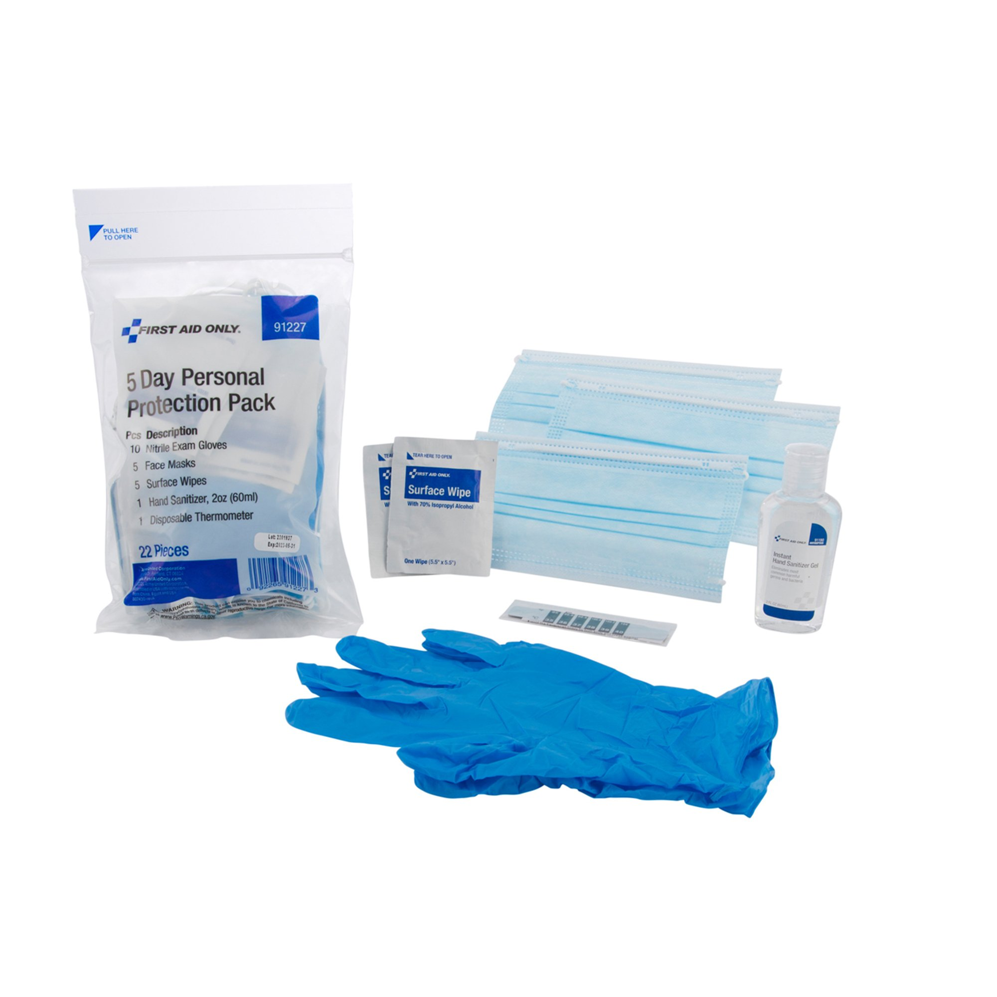 First Aid Only 5 Day Personal Protection Pack, 91227, 1 Kit