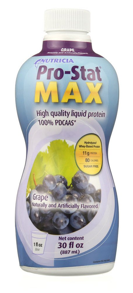 Nutricia Pro-Stat Max High Quality Liquid Protein, Bottle, 30 oz., Grape, 98490, 1 Bottle