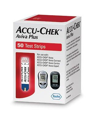 Accu-Chek Aviva Plus Test Strips, 65702043810, Box of 50