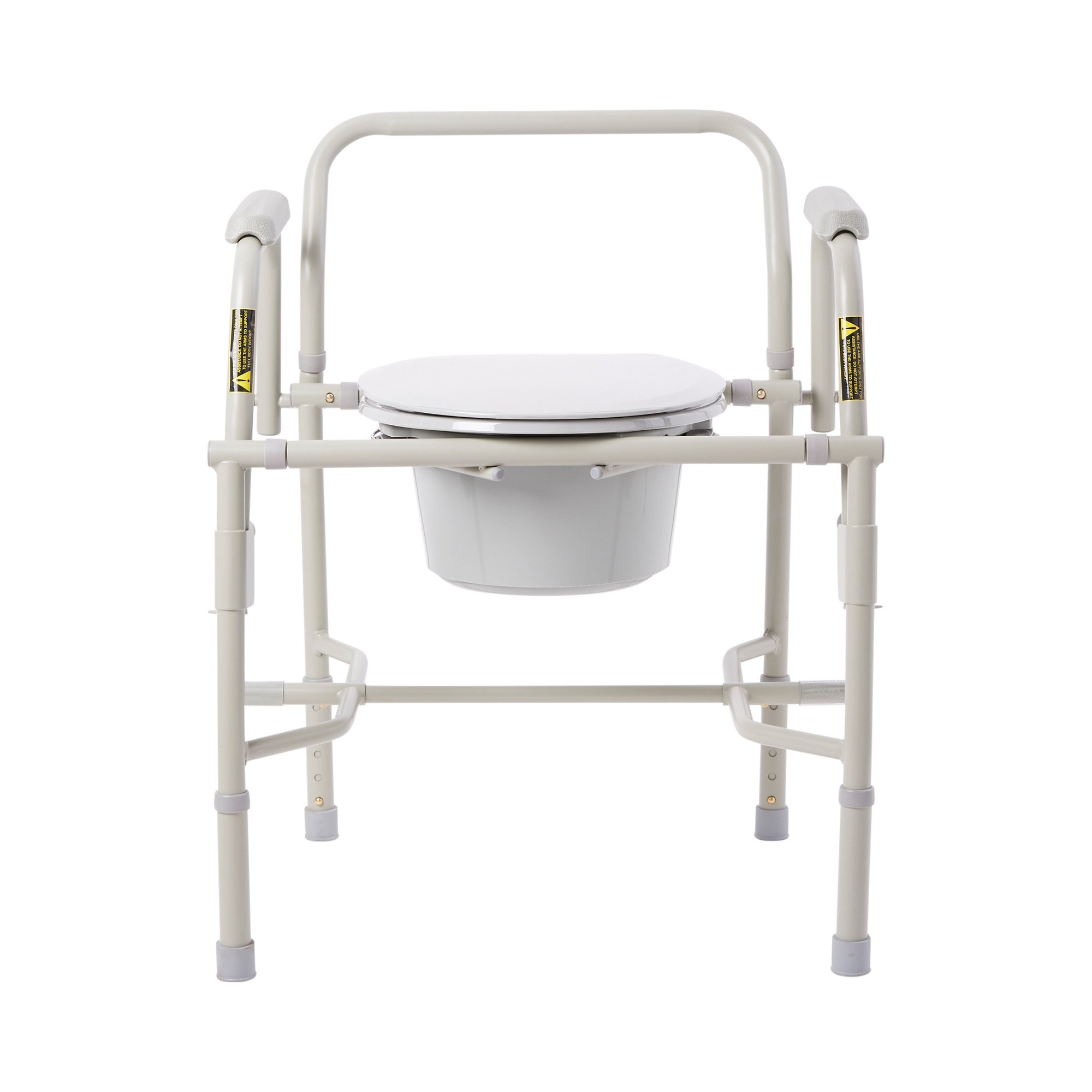 drive Deluxe Steel Drop-Arm Commode, 11125KD-1, 1 Each