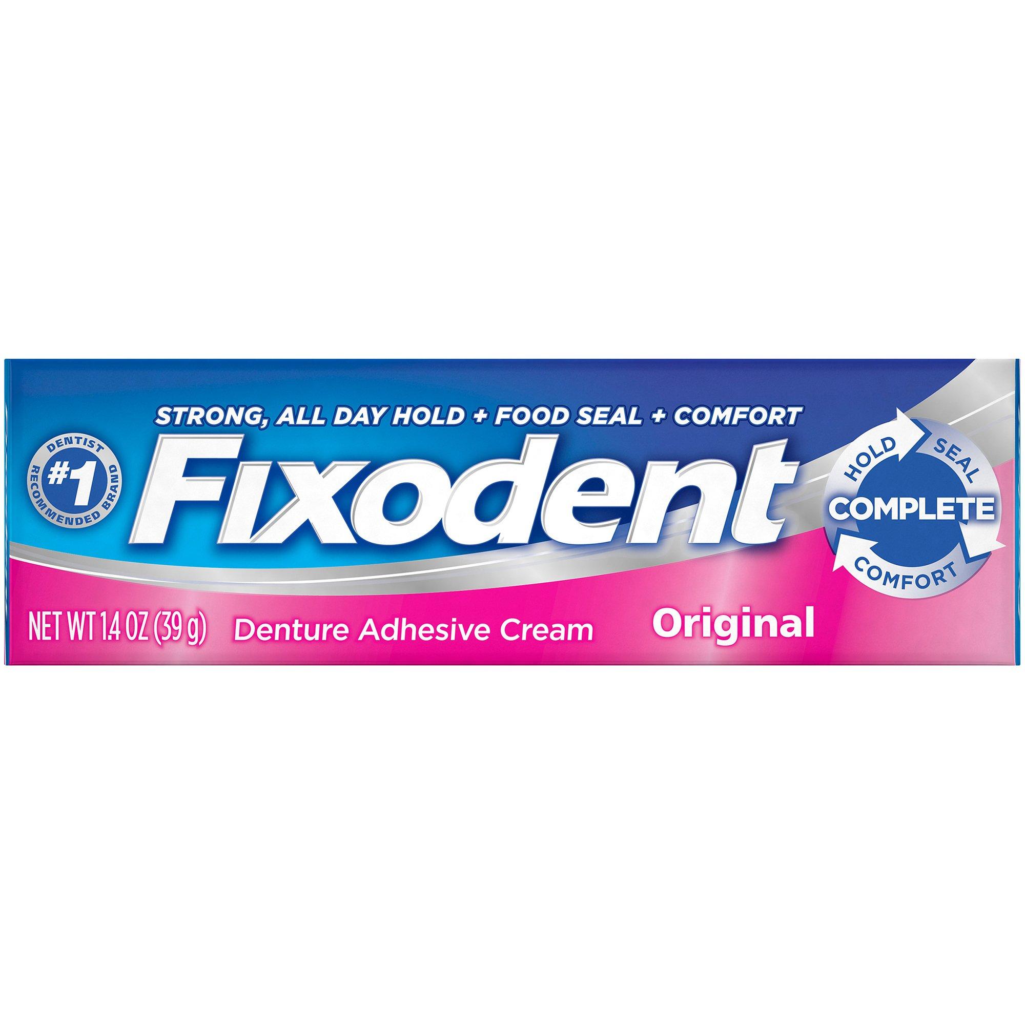 Fixodent Original Denture Adhesive Cream, 00076660300385, 1.4 oz. - 1 Each
