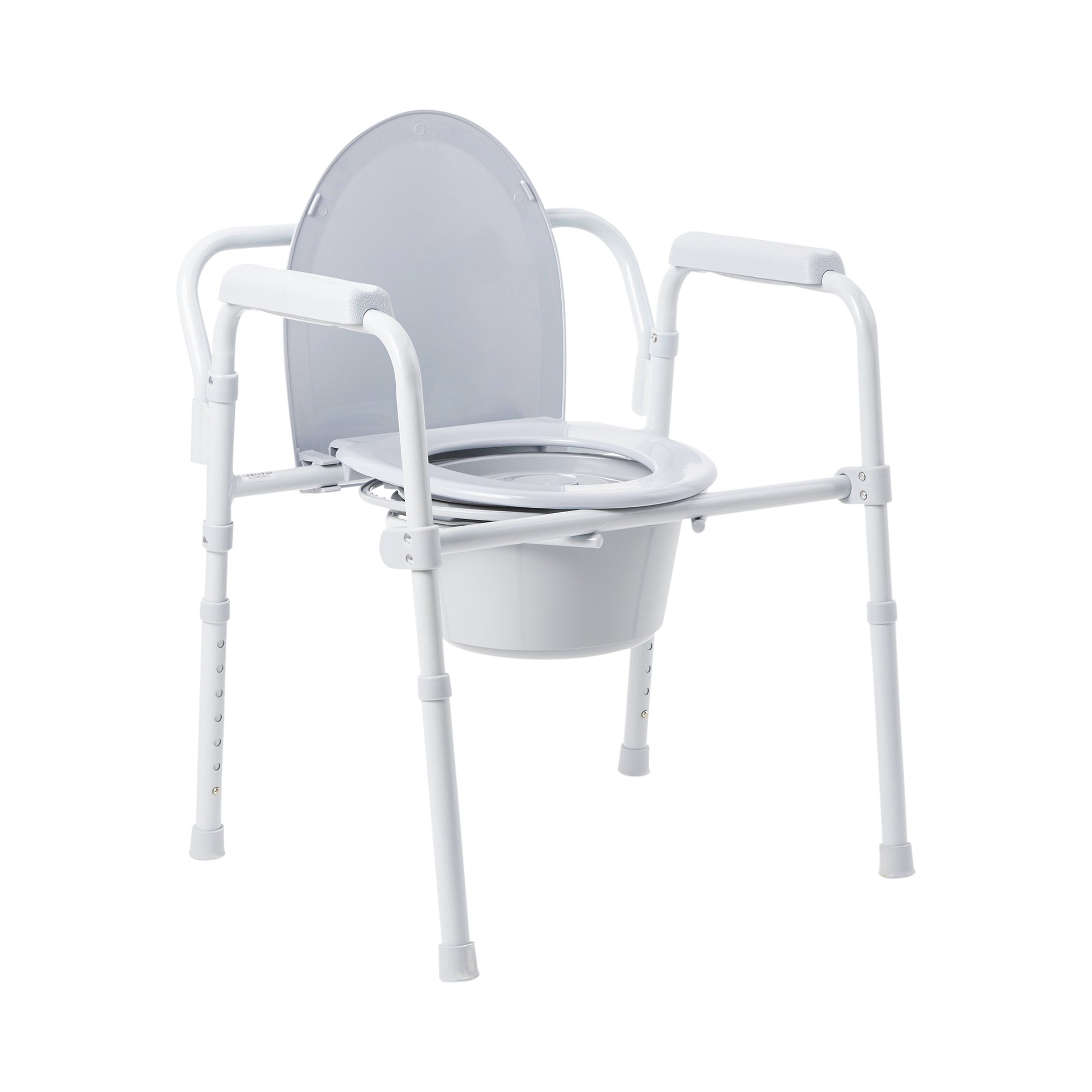 """McKesson Fixed Arm Steel Folding Commode Chair, 146-11148-4, 13.5"""" - Case of 4"""