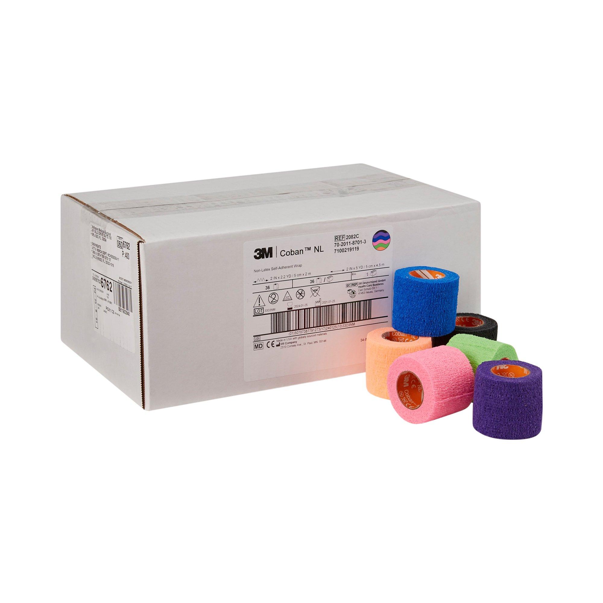 "3M Coban Compression Cohesive Bandage, NonSterile, 2 X 5"" , 2082C, Case of 36"