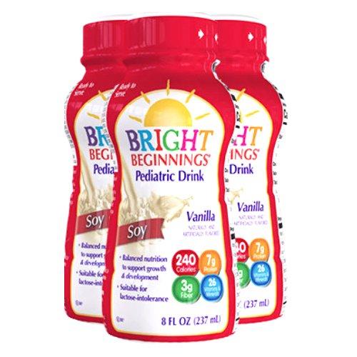Bright Beginnings Pediatric Drink, Vanilla, 8 oz. Bottle, 3566312, Pack of 6