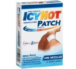 Extra Strength Topical Icy Hot Medicated Patch, Menthol Patch, 5 Per Box, 41167000841, Pack of 5