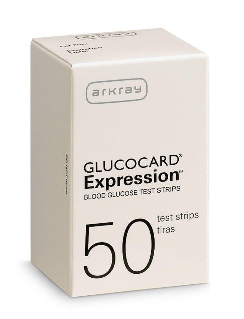 Glucocard Expression Blood Glucose Monitor, 50 Strips Per Box, 570050, 1 Box