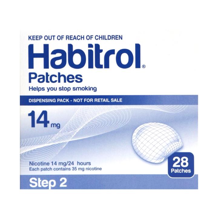 Habitrol Stop Smoking Aid Patch, 14 mg, 43598044774, Box of 14
